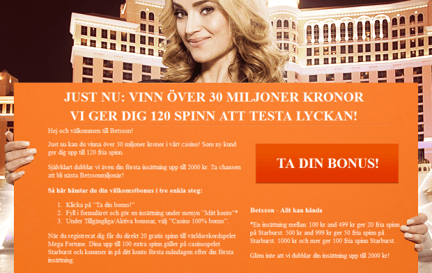 120 free spins hos betsson